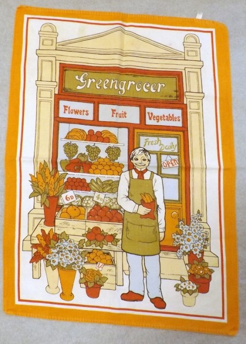 1960's Tea Towel