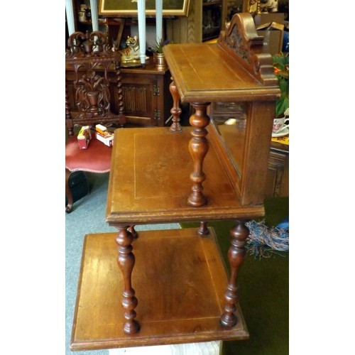 Mahogany Three Tier Shelf