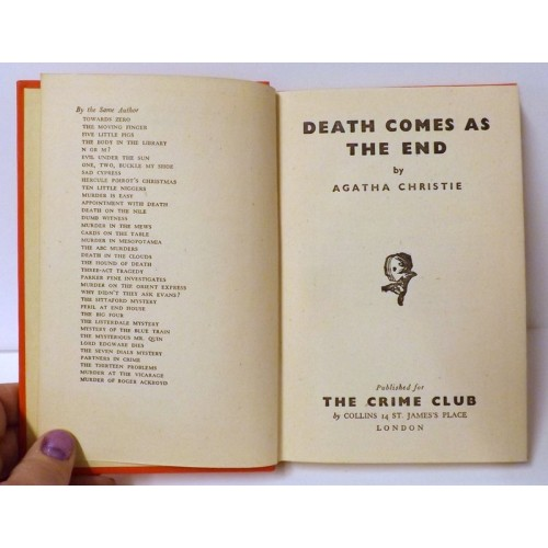 Agatha Christie, Death Comes As The End, 1st Edition