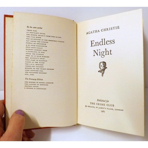 Agatha Christie, Endless Night, 1st Edition