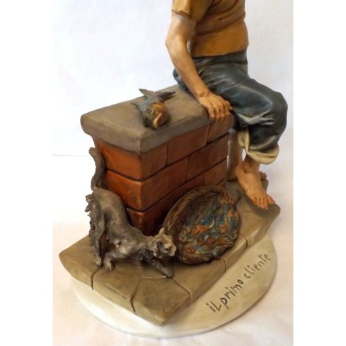 Capodimonte Fisherman and Cat