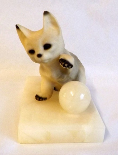 Kitten on Marble Base