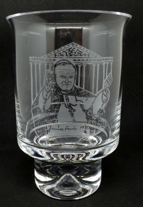 Papal Visit Hurricane Candle Holder