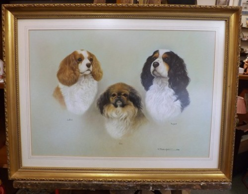 Portrait of Three Dogs