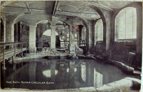 Roman Baths Postcard 1918