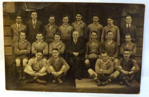 1930's Rugby Team Postcard