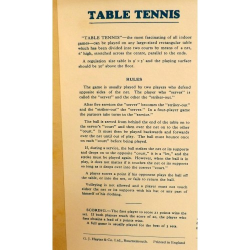 Vintage Table Tennis Accessories