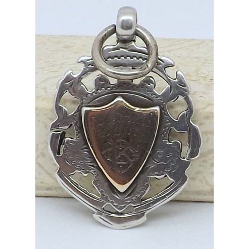 Antique Silver Tug of War Medal